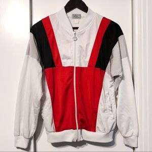Jackets & Blazers - Vintage Red Gray White Black Soft Unisex Jacket